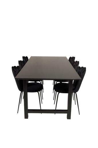Furniture Fashion Ruokailuryhmä Cissi ja ruokapöydän tuolit Limhamn  - Musta
