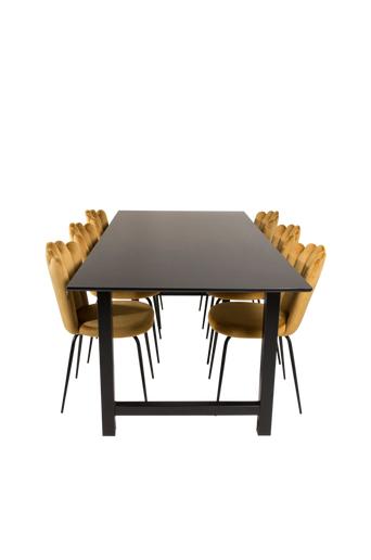 Furniture Fashion Ruokailuryhmä Cissi ja ruokapöydän tuolit Limhamn  - Musta/kulta