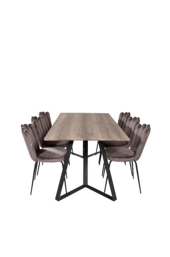 Furniture Fashion Ruokailuryhmä Maggie ja ruokapöydän tuolit Limhamn  - Harmaa/musta