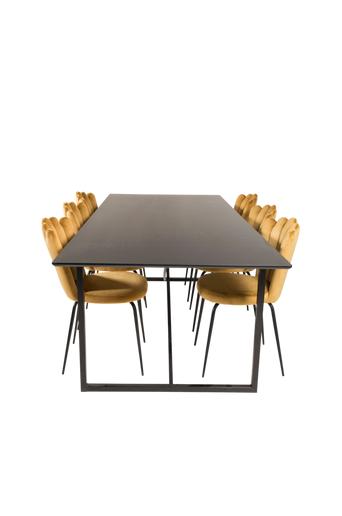 Furniture Fashion Ruokailuryhmä Pinner ja ruokapöydän tuolit Limhamn  - Musta/kulta