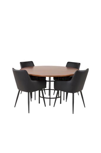 Furniture Fashion Ruokailuryhmä Copenhagen ja ruokapöydän tuolit Comfort  - Ruskea/musta