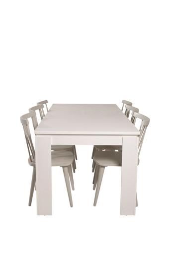 NORDFORM Ruokailuryhmä Limono ja ruokapöydän tuolit Miso  - Valkoinen