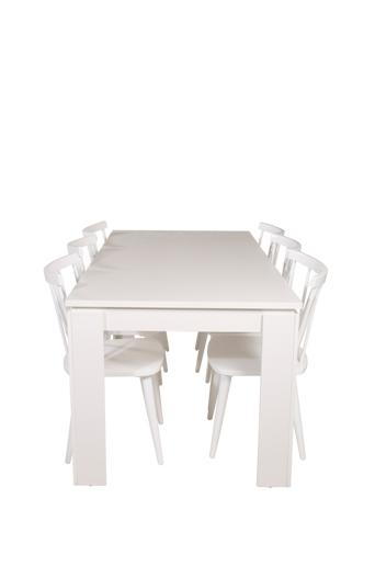 NORDFORM Ruokailuryhmä Limono ja ruokapöydän tuolit Miso  - Harmaa