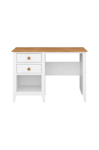 NORDFORM Kirjoituspöytä Hestra  - White lacquer+stain-waxed top