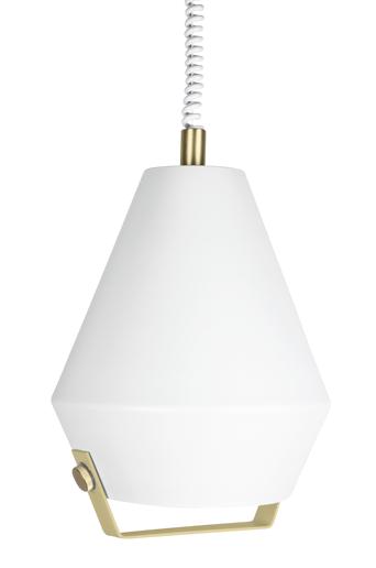 Globen lighting Lift Me kattovalaisin  - Valkoinen/messinginvärinen