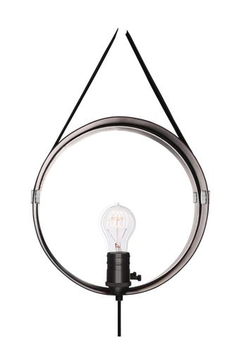 Globen lighting Hangover seinävalaisin  - Mattamusta/musta