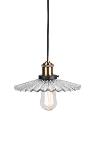Globen lighting Mini Cobbler kattovalaisin  - Kirkas/Antiikkimessinginvärinen