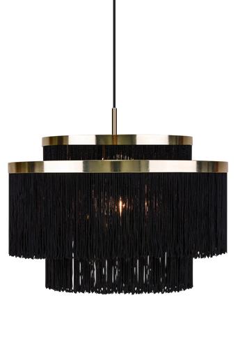 Globen lighting Frans-kattovalaisin  - Musta/messinginvärinen