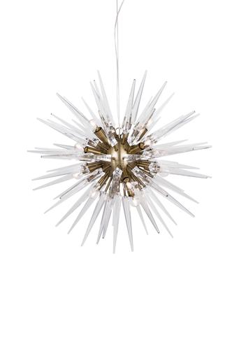 Globen lighting Kattovalaisin Polaris  - Klar/ borstad m