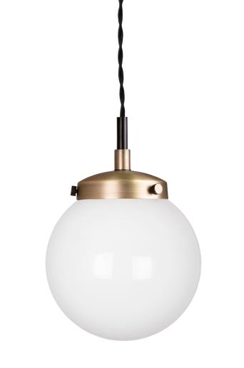 Globen lighting Kattovalaisin Mini Alley  - Antiikkimessinginvärinen/valkoinen