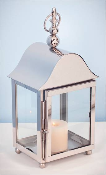 AG Home & Light Kynttilälyhty Dublin korkeus 45 cm  - Silver