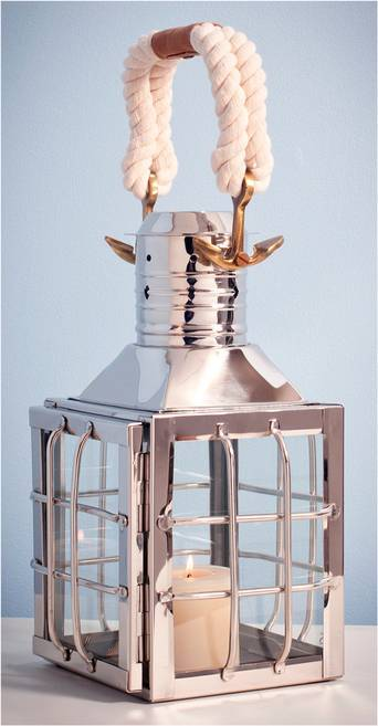 AG Home & Light Kynttilälyhty Manchester, korkeus 37 cm  - Silver