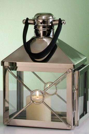 AG Home & Light Kynttilälyhty Dion, korkeus 32 cm  - Hopea/musta