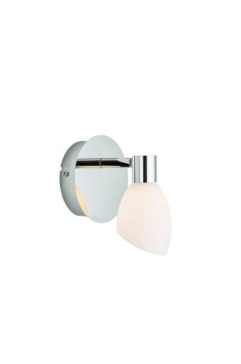 Herstal Seinävalaisin Cut, yksi lamppu  - Krominvärinen