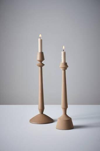 Jotex ALVEN kynttilänjalat, 2/pakk.  - Beige