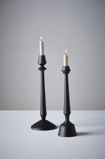 Jotex ALVEN kynttilänjalat, 2/pakk.  - Musta