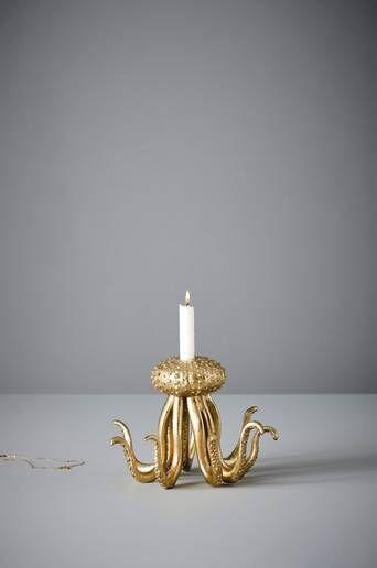 Jotex OTTO kynttilänjalka  - Kulta