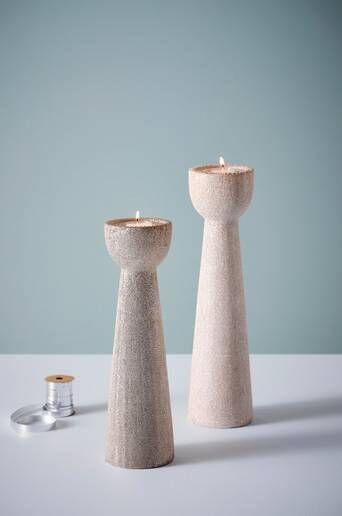 Jotex OPHELIA kynttilänjalat, 2 kpl  - Roosa/kimalle