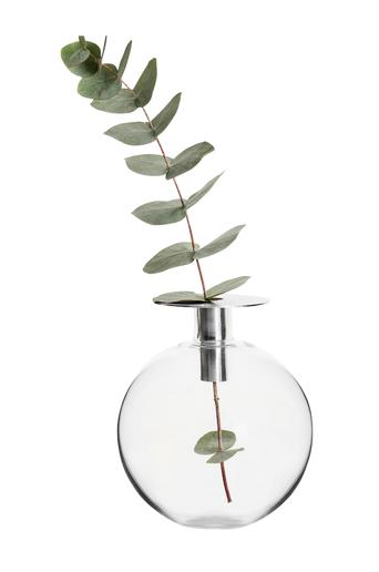 Sagaform Maljakko Top, hopea  - Silver/Glass