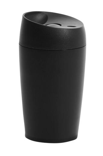 Sagaform Automuki, jossa painettava sulkumekanismi, pieni, ruostumaton teräs  - Black