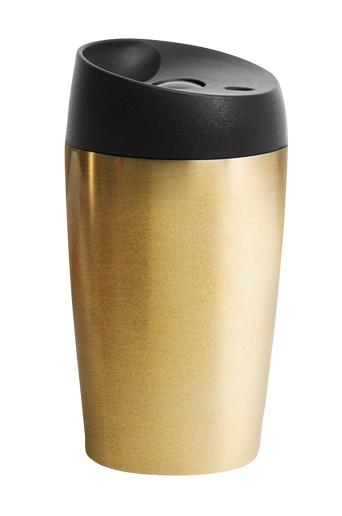 Sagaform Automuki, jossa painettava sulkumekanismi, pieni, ruostumaton teräs  - Gold/black