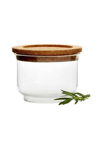 Sagaform Lasipurkki Nature, jossa kansi, pieni  - Glass/Cork
