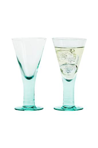 Sagaform Eco lasit jalalliset, 2/pakk.  - Green Glass