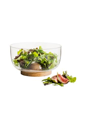 Sagaform Nature tarjoilukulho, pieni  - glas/trä