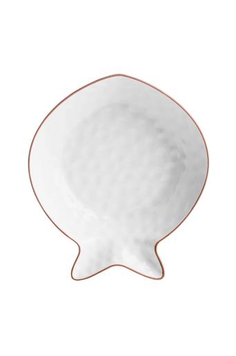 Sagaform Fish tarjoilukulho valkoinen, iso  - Valkoinen