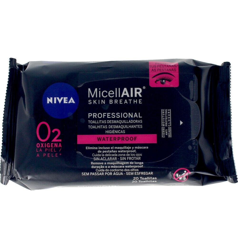 Nivea MICELL-AIR PROFESIONAL toallitas desmaquilladoras 20 uds