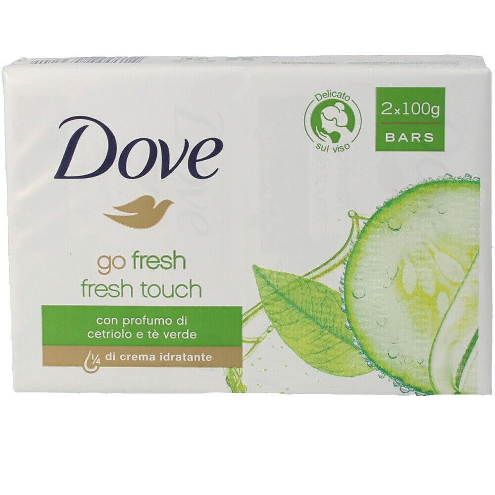 Dove GO FRESH soap CREMA PEPINO & TE green SET 2 x  100 g