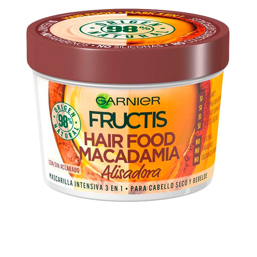 Garnier FRUCTIS HAIR FOOD macadamia mask alisadora  390 ml