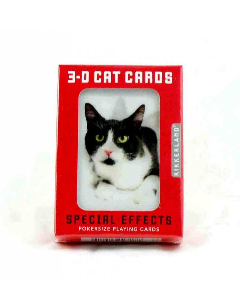 Kikkerland Korttipeli 3D kissat - Kikkerland, Matkailutarvikkeet