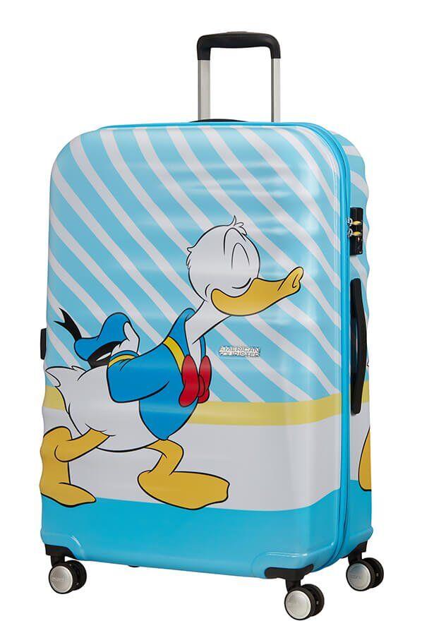 American Tourister Wavebreaker - Iso Donald Blue Kiss, Lasten matkalaukku