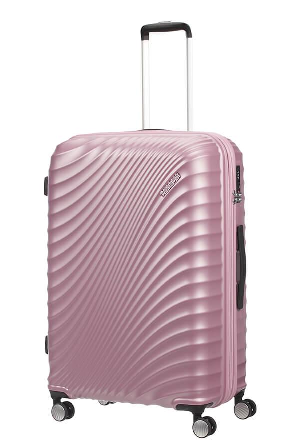 American Tourister Jetglam 77cm - Laajennettava Iso Metallic Vaaleanpunainen, Iso