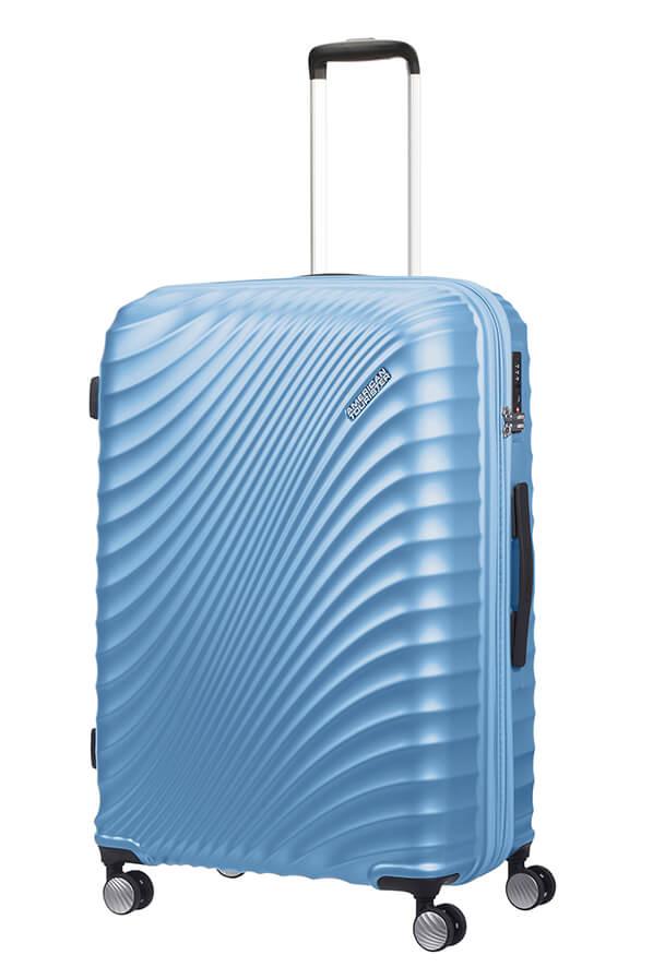 American Tourister Jetglam 77cm - Laajennettava Iso Puuterin Sininen, Iso