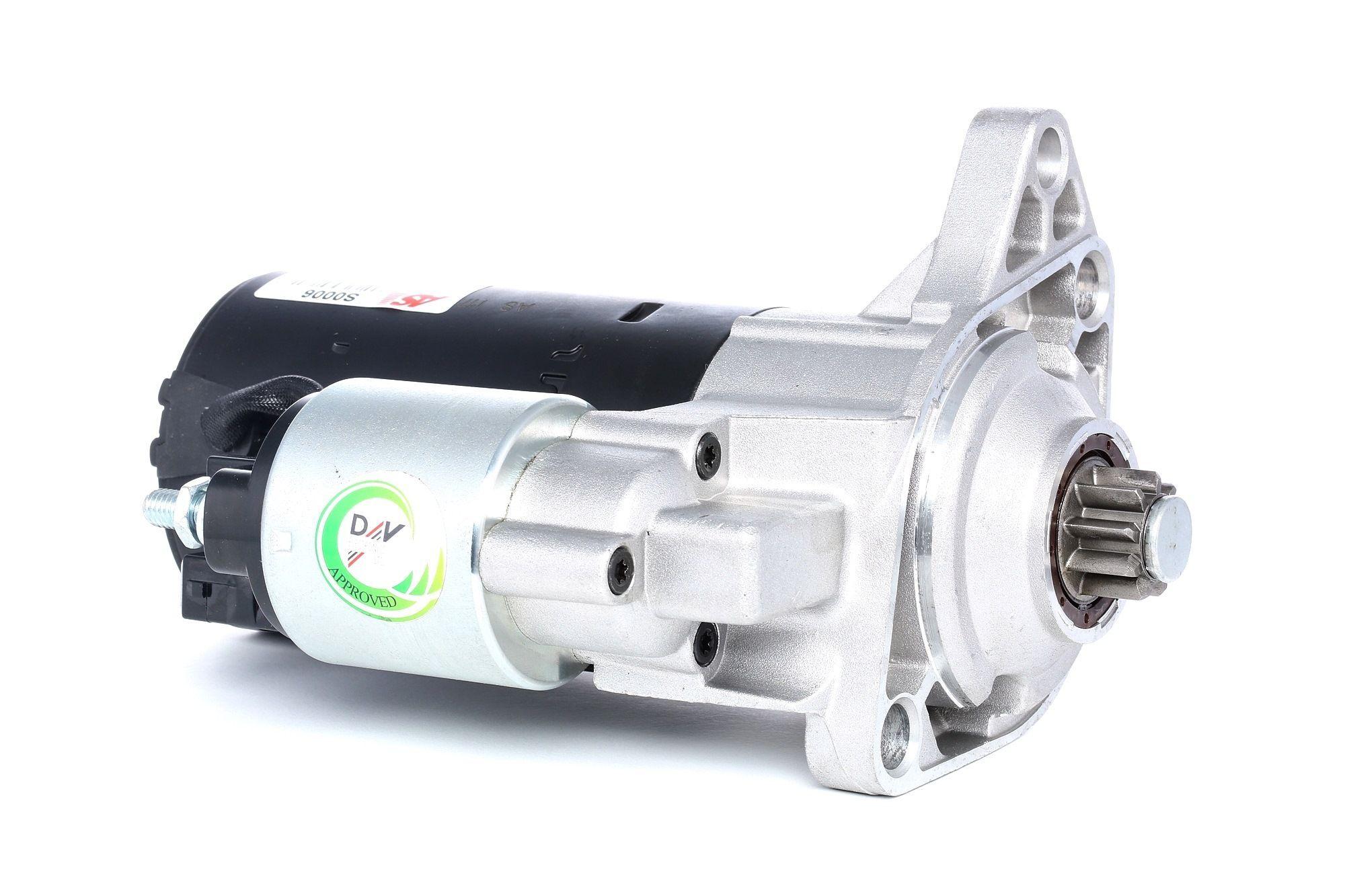AS-PL Starttimoottori Brand new AS-PL Alternator S0006 Startti,Käynnistinmoottori AUDI,VW,SEAT,A3 8L1,GOLF IV 1J1,POLO 9N_