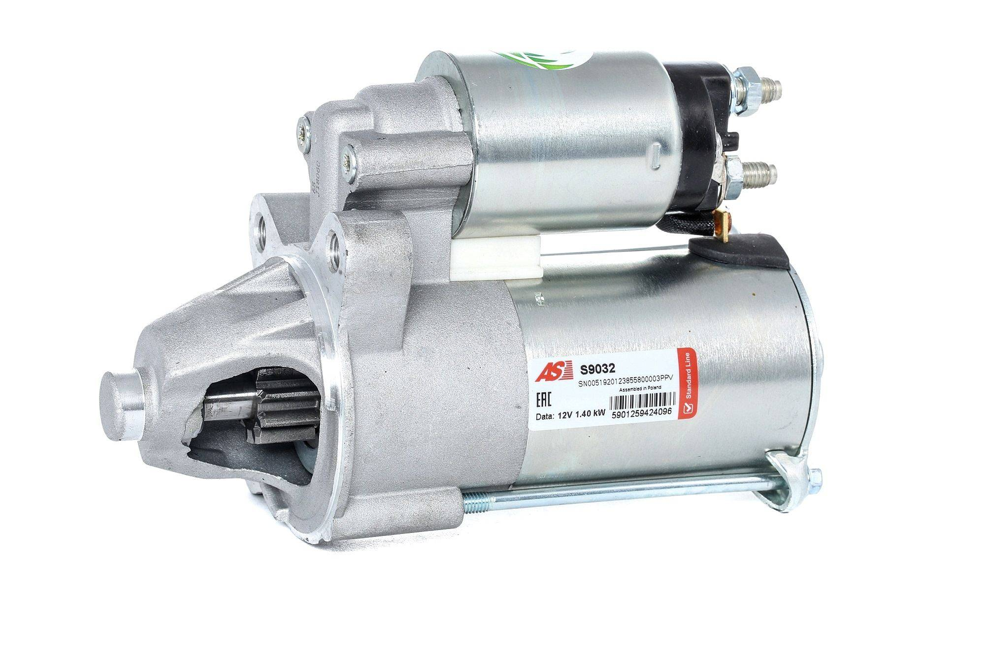 AS-PL Starttimoottori Brand new AS-PL Starter motor 0001367075 S9032 Startti,Käynnistinmoottori FORD,TRANSIT CONNECT P65_, P70_, P80_,TOURNEO CONNECT