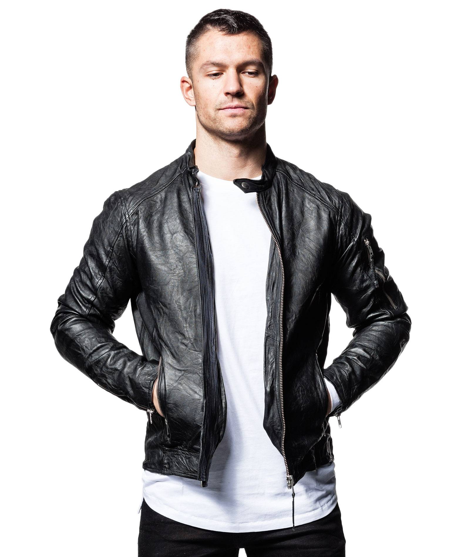 Richard Real Leather Jacket Jack & Jones