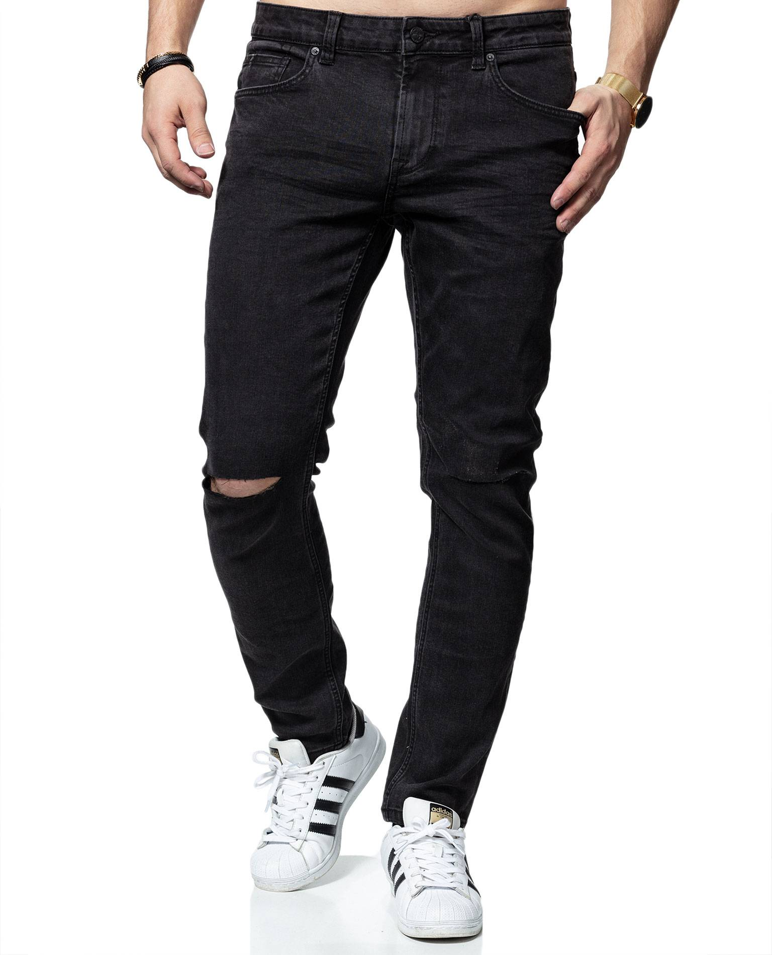 Warp Black Washed Knee-Cut L32 Only & Sons
