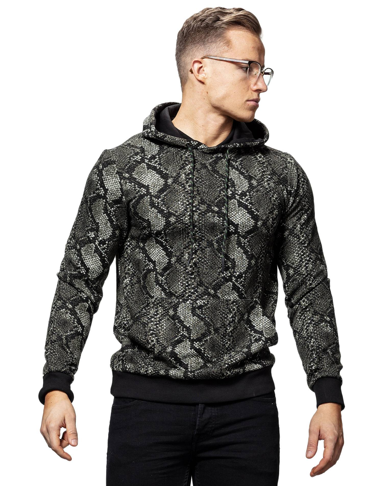 Snake Print Hoodie Only & Sons