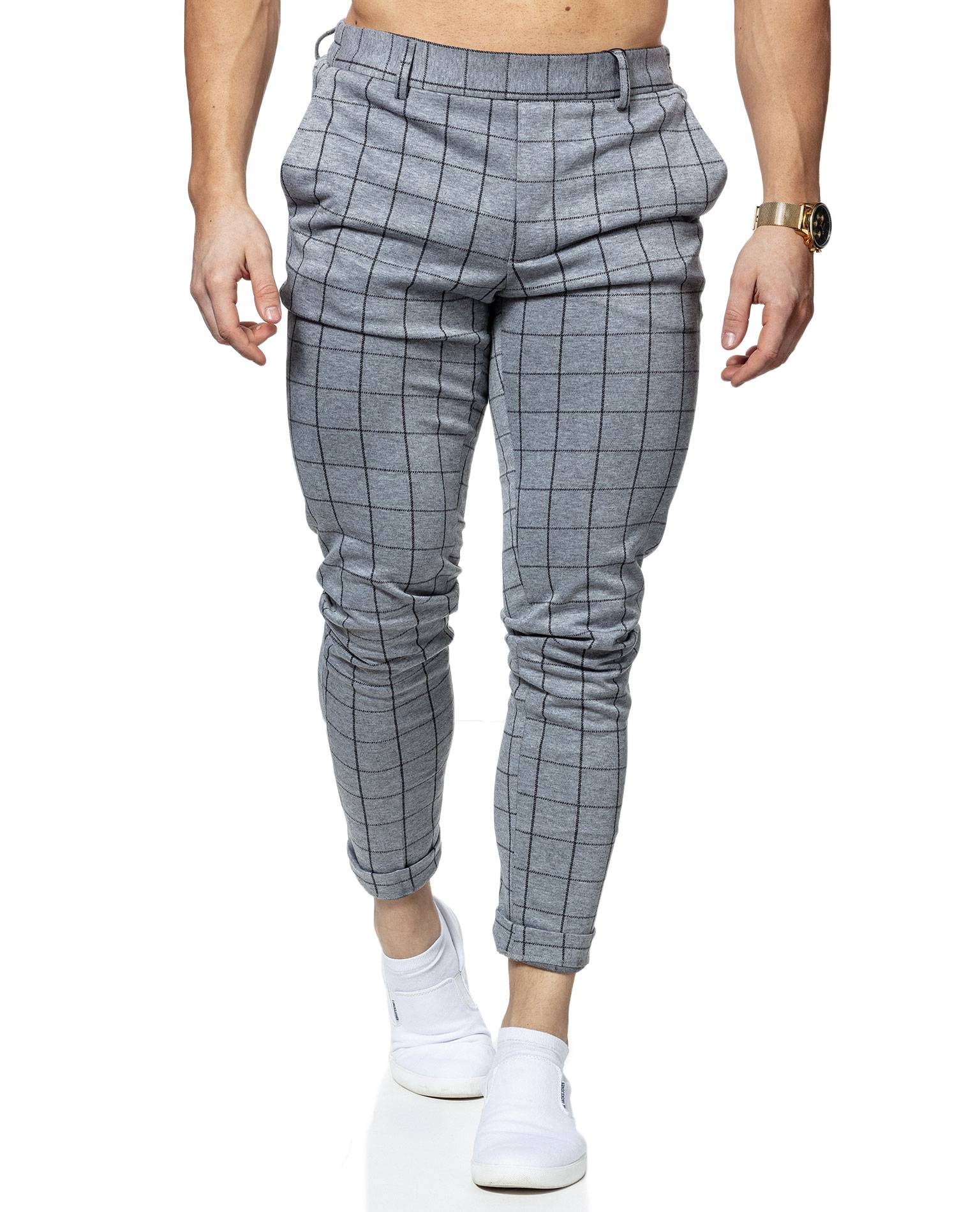 Elias Grid Pants Only & Sons