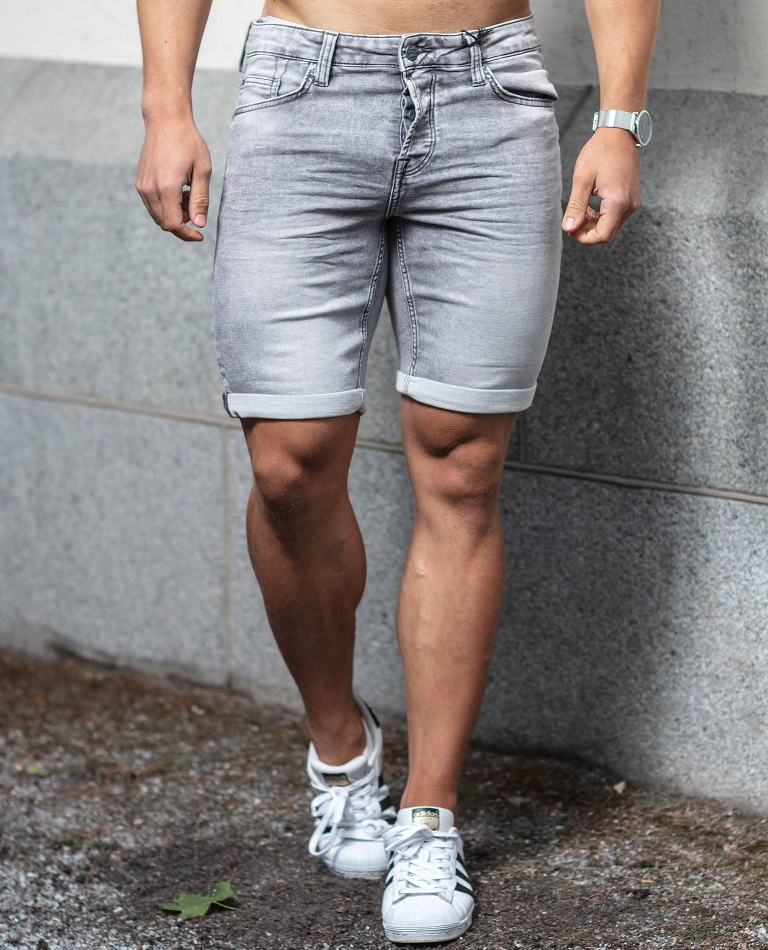 Gray Denim Shorts Only & Sons