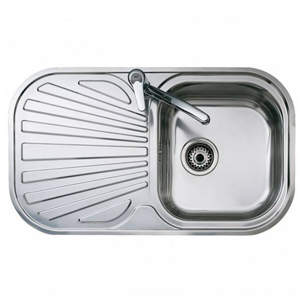 Teka Sink with One Basin and Drainer Teka Reversible Stainless steel
