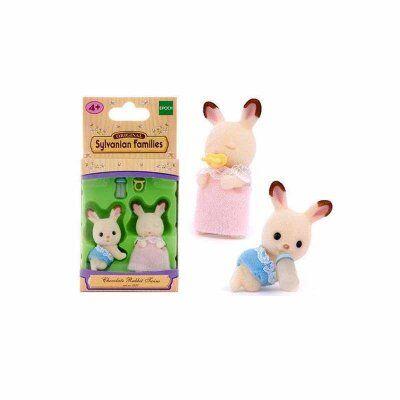 Sylvanian Families Suklaa Rabbit Twins Mini Dolls