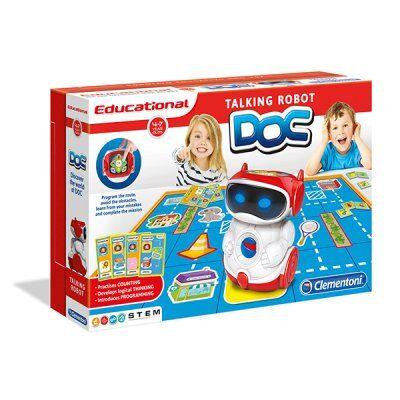 Clementoni DOC Educational Talking Robot, ruotsiksi ja suomeksi