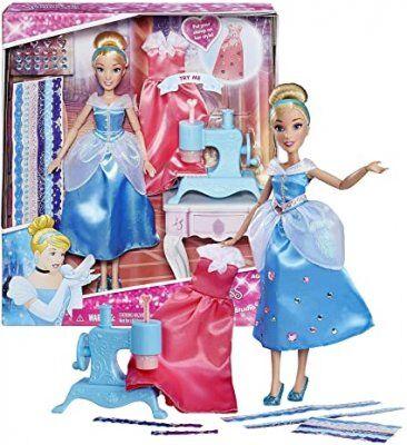 Toysone Disney Princess Cinderella nukke ompelukoneella