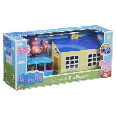 Peppa Pig Greta Gris koulu ja linja Playset