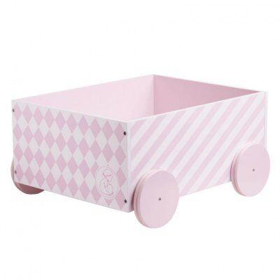 Kids concept Lapset konsepti, Leklåda / kirjakauppa pyörillä, vaaleanpunainen