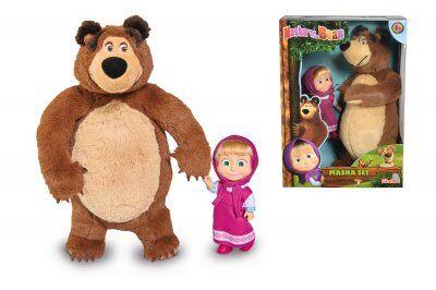 Masha and The Bear Masha Doll ja Bear pehmolelu